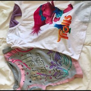 Other - Bundle of 2 size 3t Trolls girl's shirts